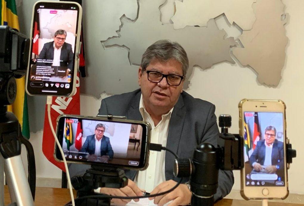 """Joao Azevedo e1603313953287 - """"Engana a população"""": João Azevêdo e outros governadores contestam dados de Bolsonaro sobre verba repassada aos estados"""