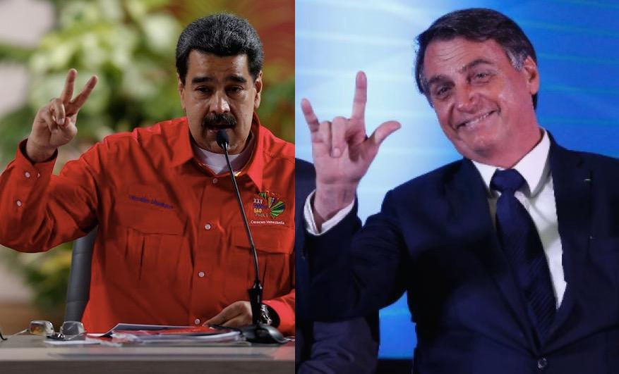 Maduro e Bolsonaro - Maduro chama Bolsonaro de mesquinho e anuncia envio de mais oxigênio