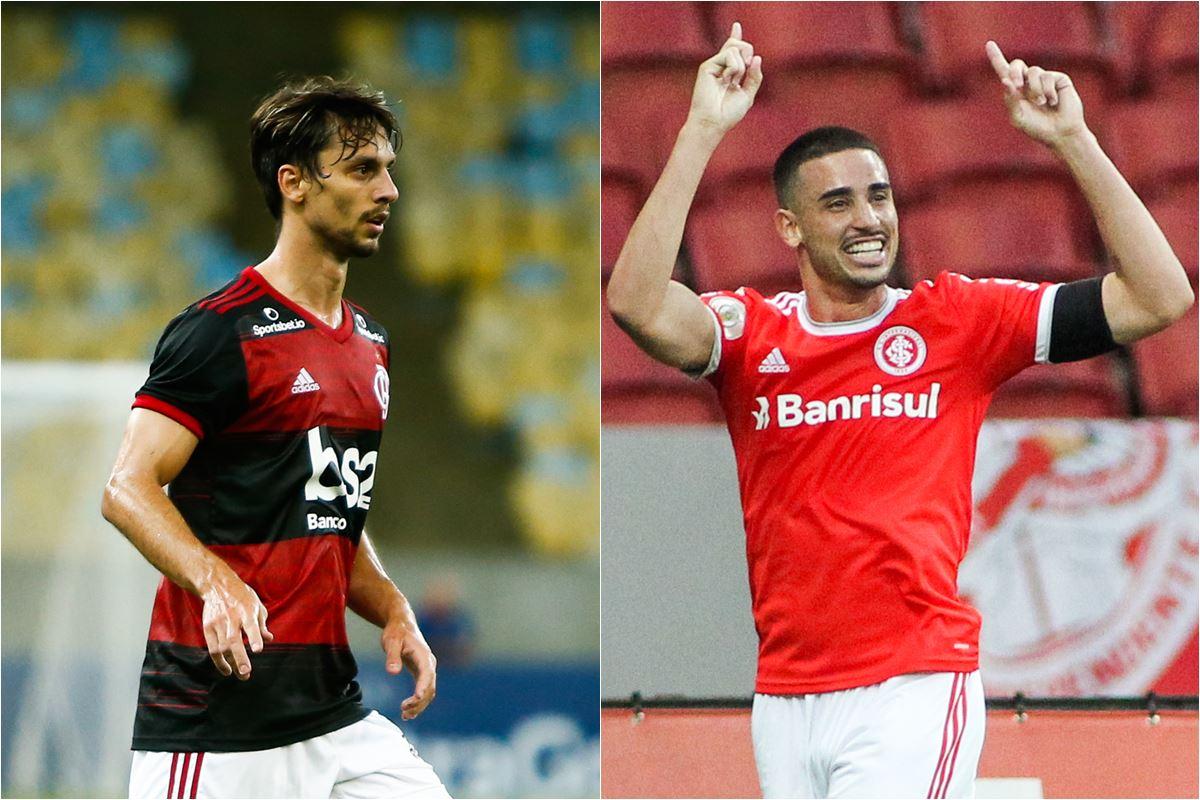 """Rodrigo Caio e Galhardo - Flamengo e Inter vencem, e fazem """"final"""" do Brasileirão na próxima rodada"""