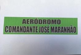 HOMENAGEM A ZÉ! Clube de Livramento passa a se chamar Aeródromo Comandante José Maranhão e fará sobrevoo em Araruna – VEJA VÍDEO