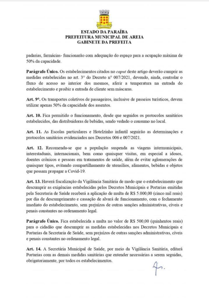 "WhatsApp Image 2021 02 22 at 10.43.35 718x1024 1 - Município da Paraíba decreta ""toque de recolher"" e fecha bares, hotéis e pousadas por 30 dias para coibir coronavírus"