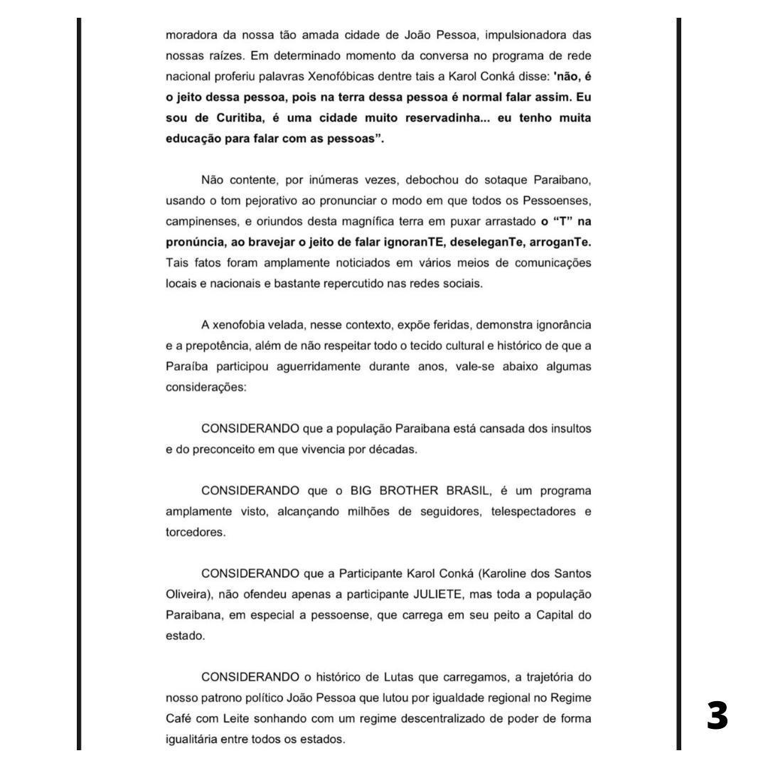 WhatsApp Image 2021 02 22 at 17.06.02 - PERSONA NON GRATA! Vereador protocola na câmara de João Pessoa voto de repúdio a rapper Karol Conká