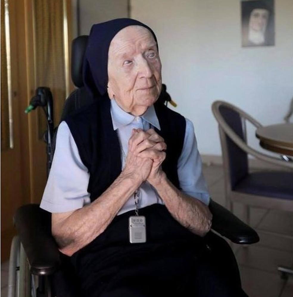 andree - Segunda pessoa mais velha do mundo, freira de 116 anos se cura da Covid-19