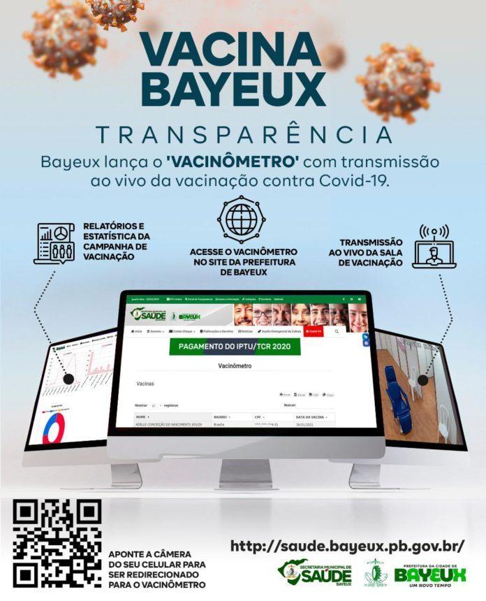 b554bea7 50c0 436d bfc2 e849bd83d493 696x860 1 - Bayeux lança 'vacinômetro' e transmissão ao vivo da vacinação contra covid-19