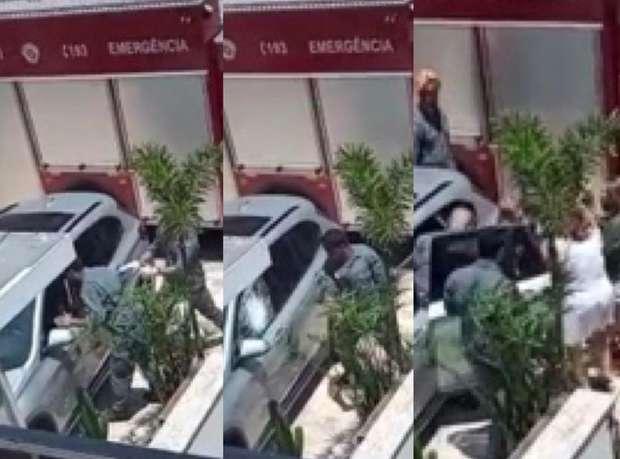 bebe 123 - Bombeiros quebram vidro para resgatar bebê preso em carro blindado - VEJA VÍDEO