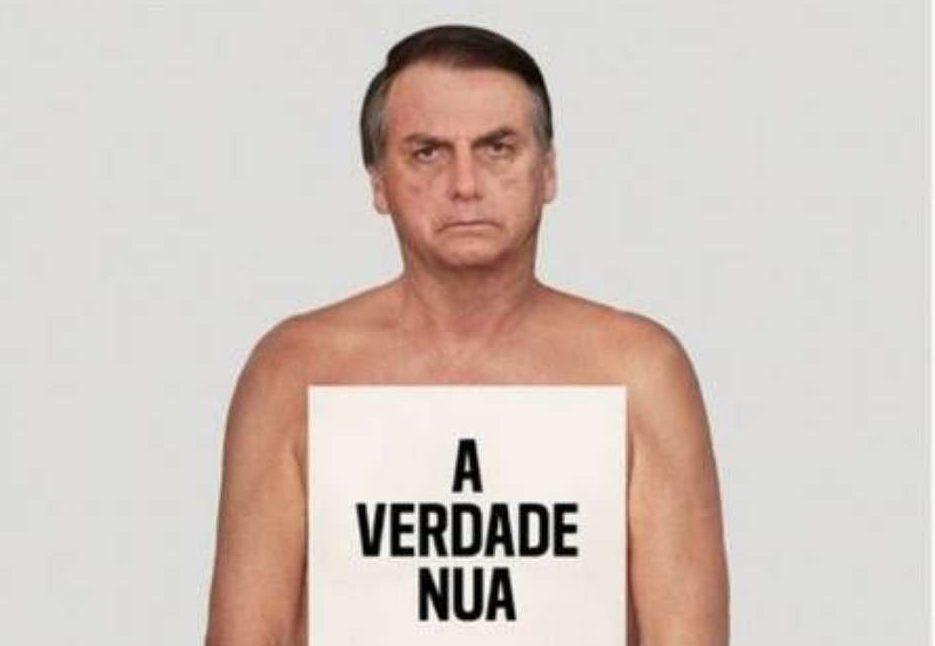 bozo 1 e1614030532919 - ONG usa Bolsonaro 'nu' para campanha contra desinformação