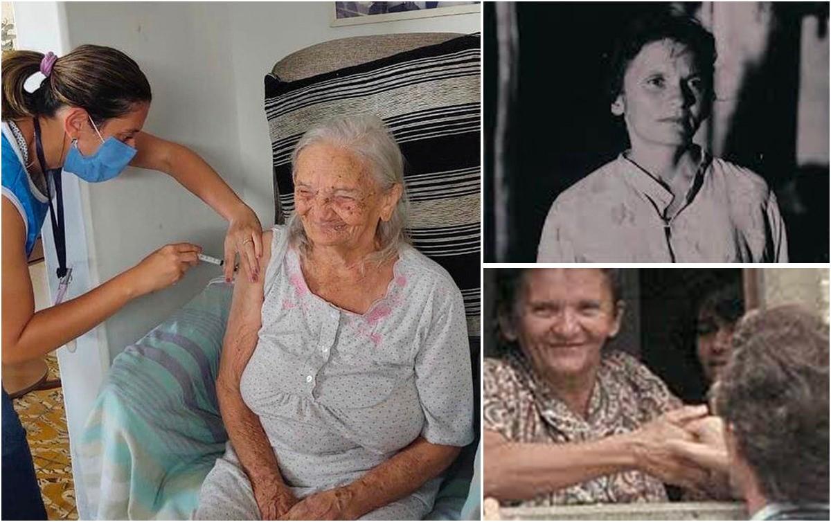 cabra24 - PARA VIVER! Elizabeth Teixeira do documentário 'Cabra Marcado para Morrer', é vacinada aos 96 anos