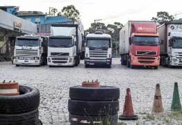 Primeiro ato da greve dos caminhoneiros tem pedradas e bala de borracha