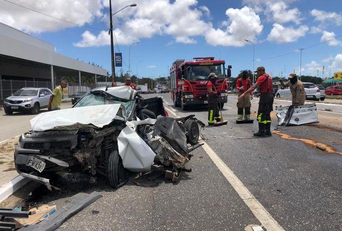 csm Acidente proximo mineirao af480d6e2c - Com ferimentos leves, motorista sobrevive a grave acidente de trânsito na BR 230