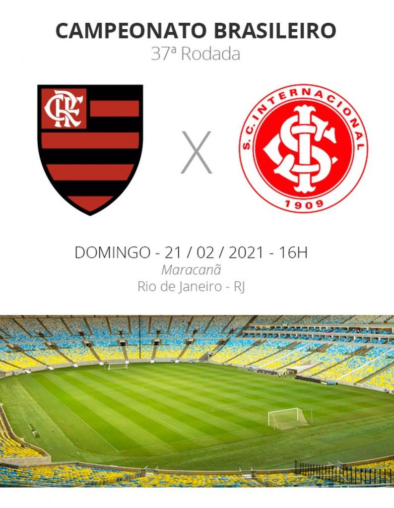 ficha brasileirao 2020 37a rodada flamengo x internacional - Flamengo x Internacional: Veja onde assistir, escalações, desfalques e arbitragem