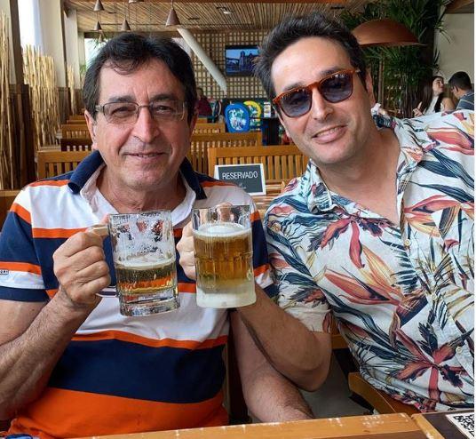 pablo e o pai - Vítima da Covid-19: empresário Pablo Estrela era cheio de vida e amor pela família