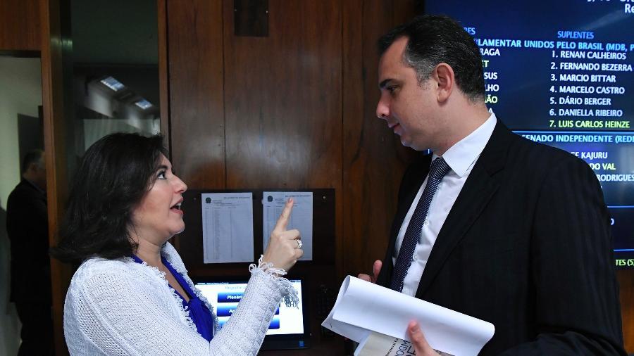 pacheco e tebet - NO SENADO: Pacheco deve vencer eleição no 1º turno, com Simone Tebet rifada pelo MDB