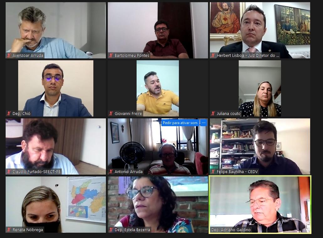 reuniao - Assembleia Legislativa da Paraíba discute retorno das aulas presenciais e vacinação de profissionais da educação