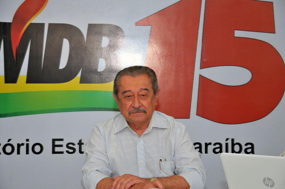 """ze maranhao mdb - MDB, partido do senador José Maranhão, lamenta morte do paraibano: """"Legado em defesa da democracia"""""""