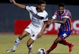 Botafogo-PB sai na frente, mas Bahia empata no fim, em Pituaçu
