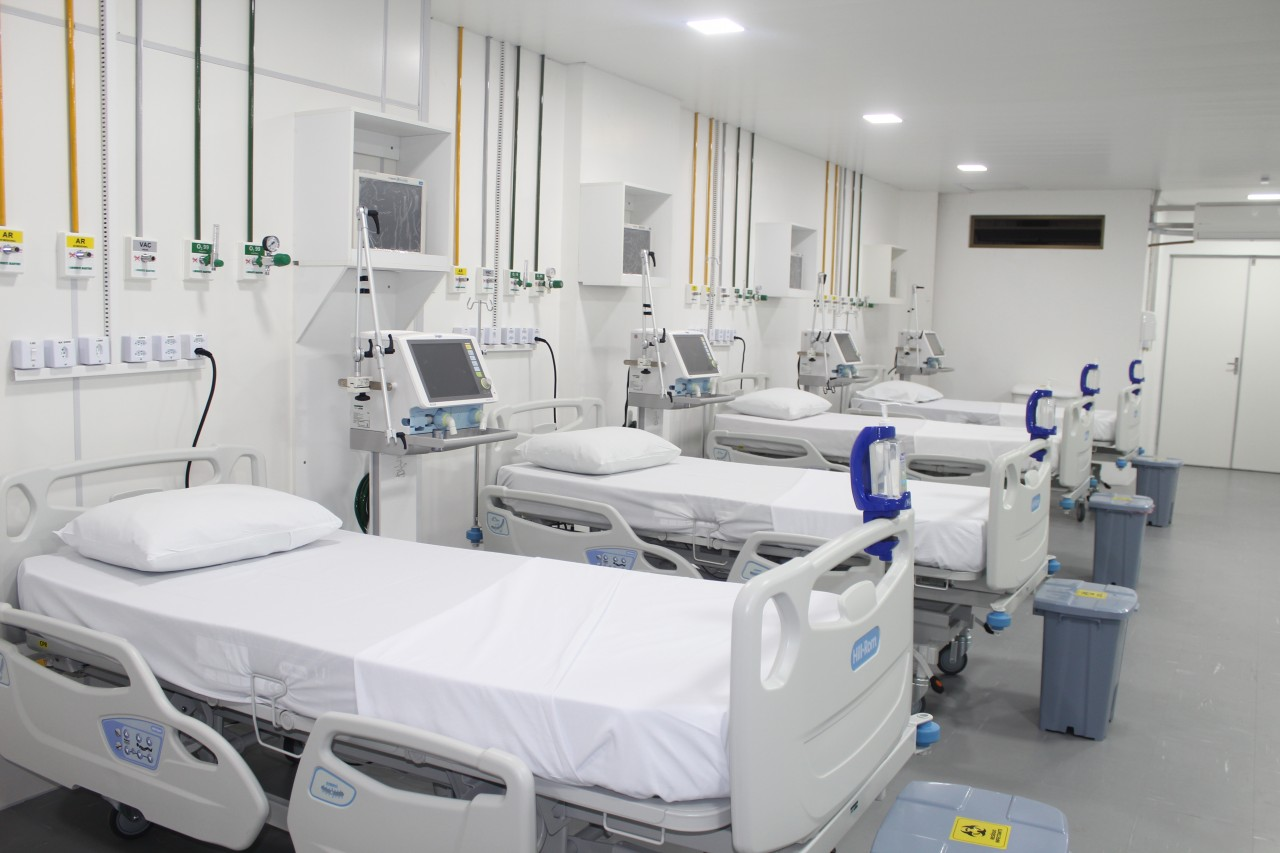Nova UTI HAUW 02 - Paraíba volta a zerar fila de espera por leito de UTI Covid para pacientes infectados com a doença