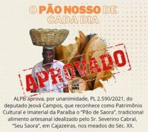 Seu Saora 300x266 - RECONHECIMENTO: pão de Saora, fabricado em Cajazeiras, torna-se patrimônio da Paraíba