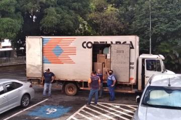 Caminhão com mudança do senador paraibano José Maranhão saí de Brasília – VEJA IMAGENS