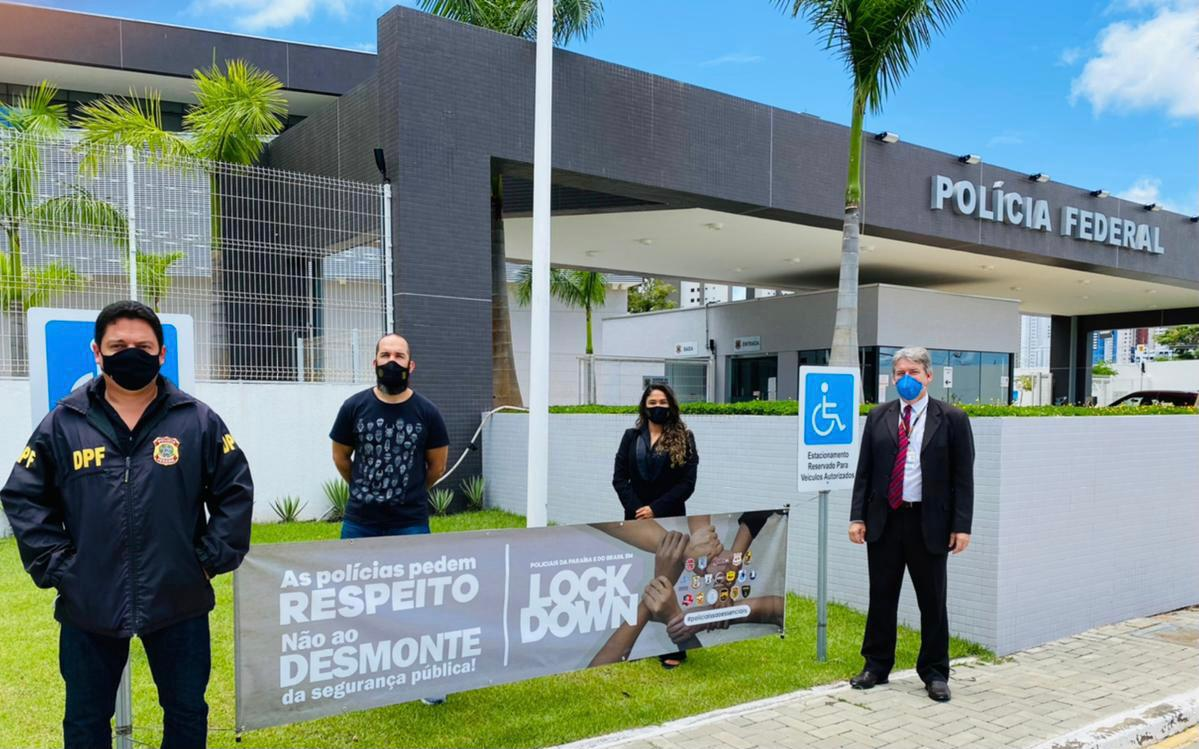 WhatsApp Image 2021 03 22 at 16.42.25 - Polícias da Paraíba paralisaram atividades pedindo vacinação para a classe; diretor da ASPOL diz que movimento é nacional