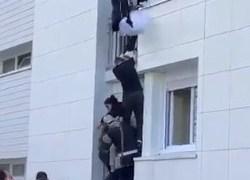 IMPRESSIONANTE! Bebê é arremessado da janela de apartamento para escapar de incêndio – VEJA VÍDEO