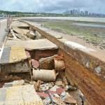 cabo branco - Prefeitura de João Pessoa inicia processo de reconstrução da calçadinha do Cabo Branco