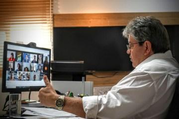 João Azevêdo discute situação da pandemia e ações para evitar maior propagação do coronavírus com representantes de Poderes do estado