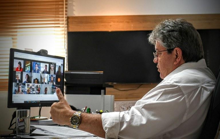 f84b97c8 c1da 45c0 85f6 8f3c198a064a - João Azevêdo discute situação da pandemia e ações para evitar maior propagação do coronavírus com representantes de Poderes do estado
