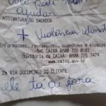 vit - Vítima de violência doméstica escreve bilhete com pedido socorro em agência bancária: 'Ele tá aí fora'