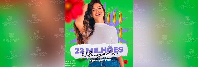"""WhatsApp Image 2021 04 21 at 16.07.31 1 - Juliette atinge 22 milhões de seguidores: """"É como se 10% da população brasileira seguisse ela no instagram"""""""