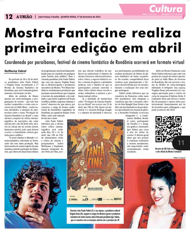 WhatsApp Image 2021 04 24 at 14.28.59 1 - Mostra de cinema de Rondônia organizada por paraibanos entra em cartaz; veja programação