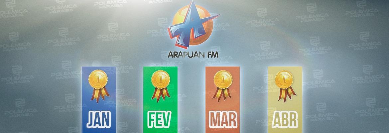 WhatsApp Image 2021 04 30 at 11.14.54 1 - NO TOPO DO RANKING ( JOÃO PESSOA ) : pelo quarto mês consecutivo a Arapuan FM fica em primeiro lugar entre as rádios mais acessadas do RadiosNeT