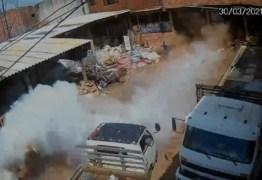 Cilindro de gás explode e fere dono de ferro velho em SP; VEJA VÍDEO