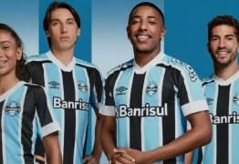 Grêmio apresenta uniformes para 2021 com homenagem a títulos históricos