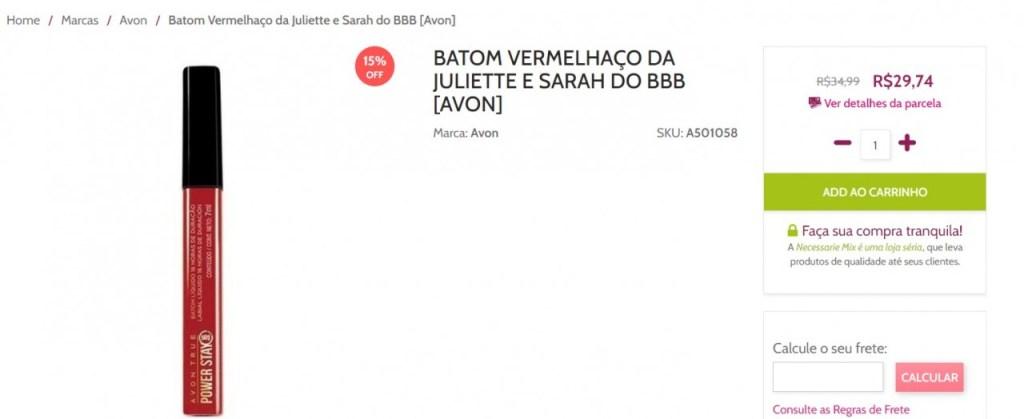 imagem 2021 04 16 213133 1024x419 - TUDO QUE ELA USA FAZ SUCESSO: marcas e lojas online usam nome de Juliette para promover seus produtos; confira