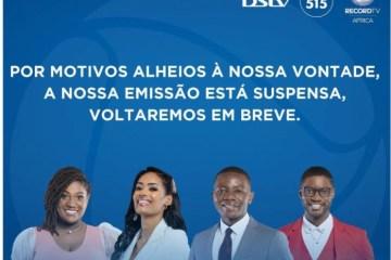 imagem 2021 04 22 184540 - Após decisão do governo, afiliada da Record em Angola sai do ar