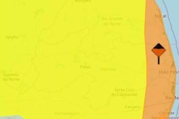Inmet emite alertas de chuvas intensas para todos os municípios da Paraíba