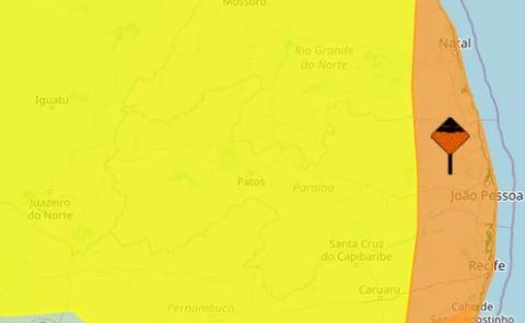 inmet - Inmet emite alertas de chuvas intensas para todos os municípios da Paraíba