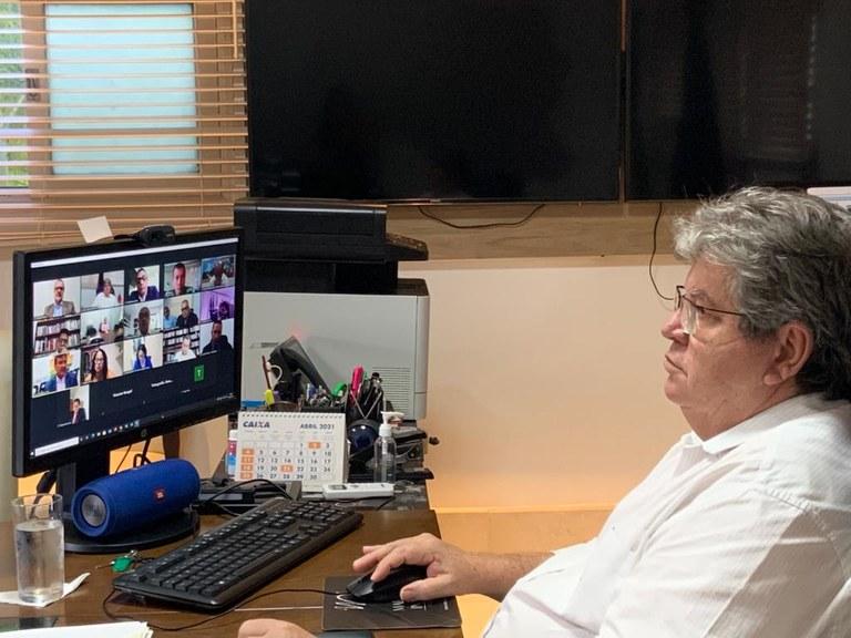 joao azevedo - João Azevêdo participa de instalação da Câmara Temática da Segurança Pública do Consórcio Nordeste, para promover ações preventivas