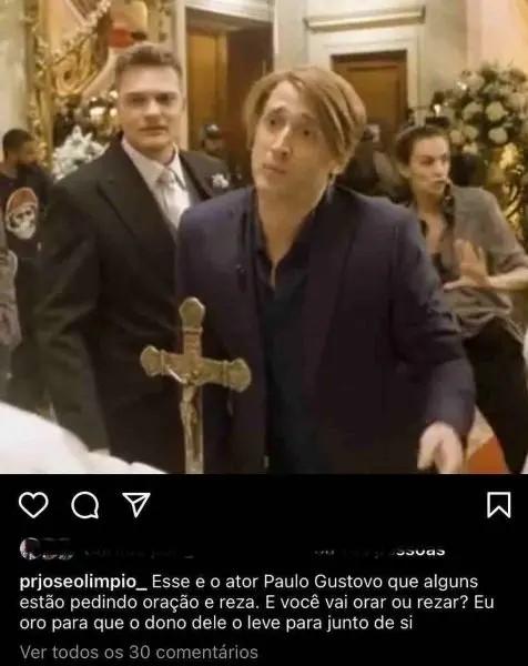 """paulo gustavo 1 - Pastor deseja morte de Paulo Gustavo: """"Eu oro para que o dono dele o leve para junto de si"""""""