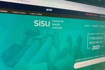 sisu 1 - Inscrições para o SISU 2021 terminam nesta sexta-feira