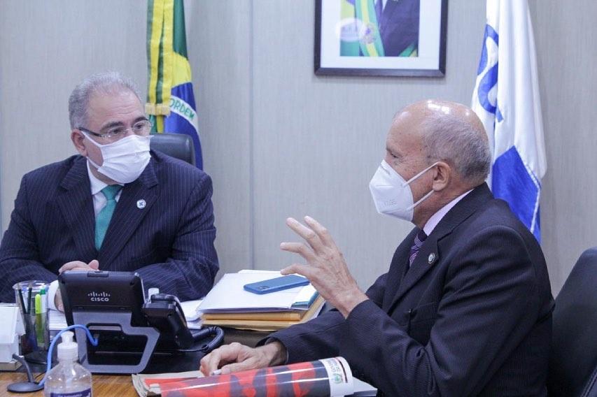 191351777 3013481008886978 8025474434134962650 n 1 - Em reunião com Queiroga, Geraldo Medeiros solicita respiradores e projeto de vacinação em massa em cidade paraibana