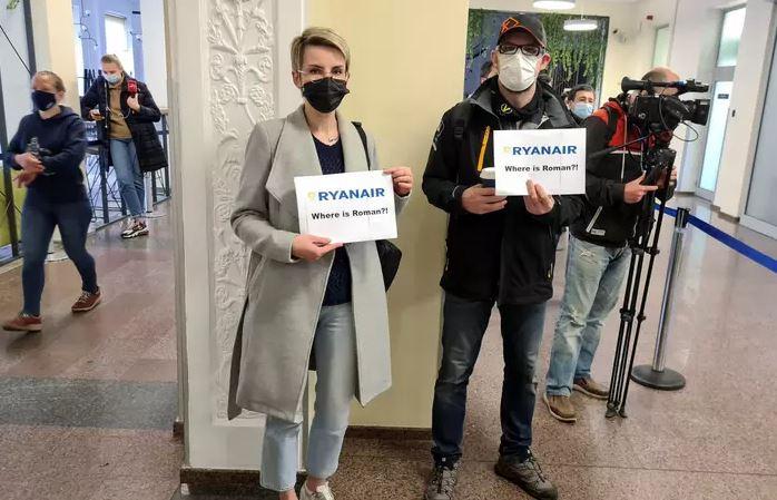 Capturar 127 - LITUÂNIA: 5 passageiros de voo interceptado por Belarus não chegaram ao destino