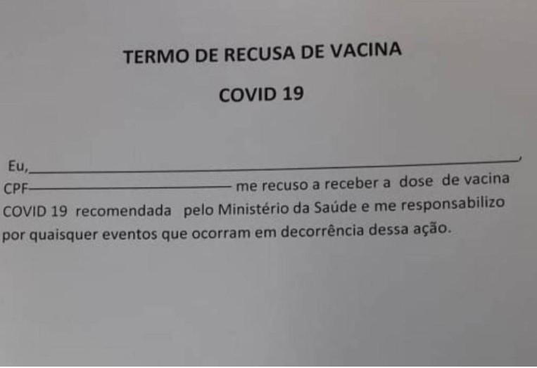 Capturar 139 - Mulher de 77 anos que assinou termo rejeitando vacina morre de Covid