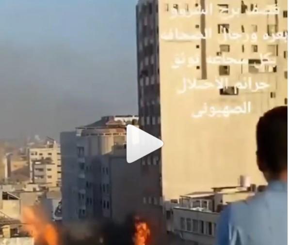 Capturar 51 - LANÇAMENTOS DE MÍSSEIS:Prédio de 13 andares desaba após ataque de Israel a Gaza - VEJA VÍDEO