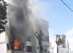 Incêndio atinge apartamento no Bairro dos Estados e idoso de 79 anos fica ferido; VEJA VÍDEO