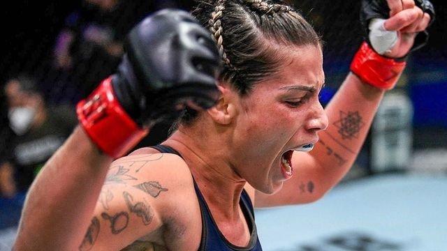 Luana Pinheiro - UFC: paraibana Luana Pinheiro recebe chute ilegal e vence na estreia por desclassificação