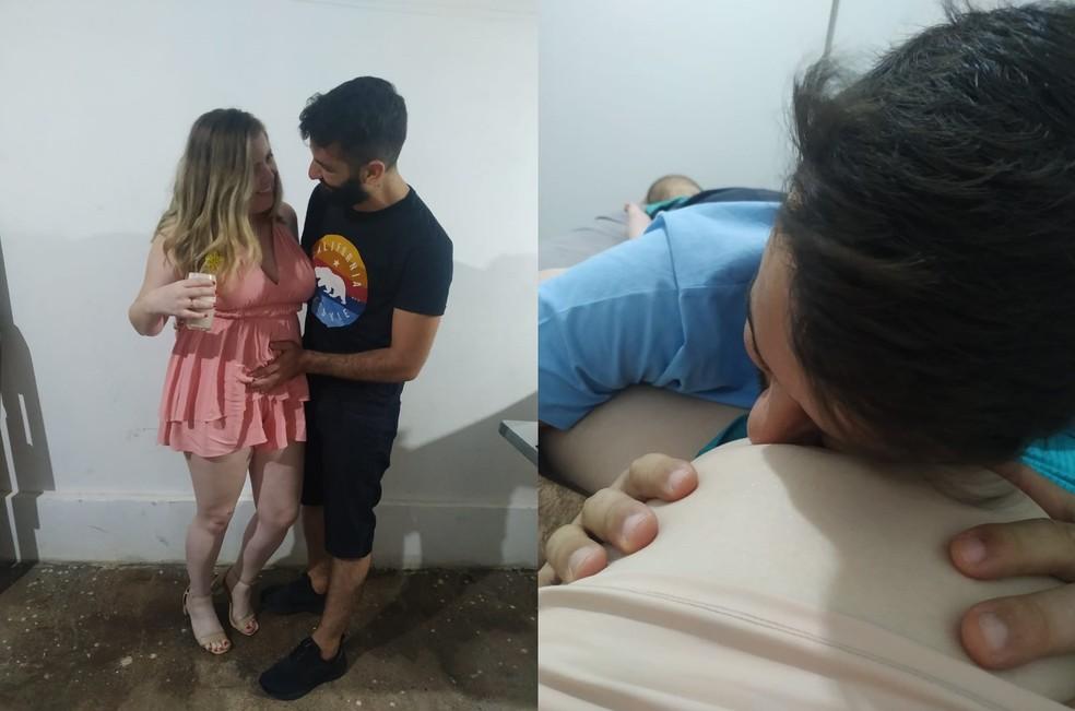 """Natalia e noivo - Após Covid, grávida tem bebê prematura e as duas morrem por complicações: """"Tudo foi interrompido"""", lamenta noivo"""