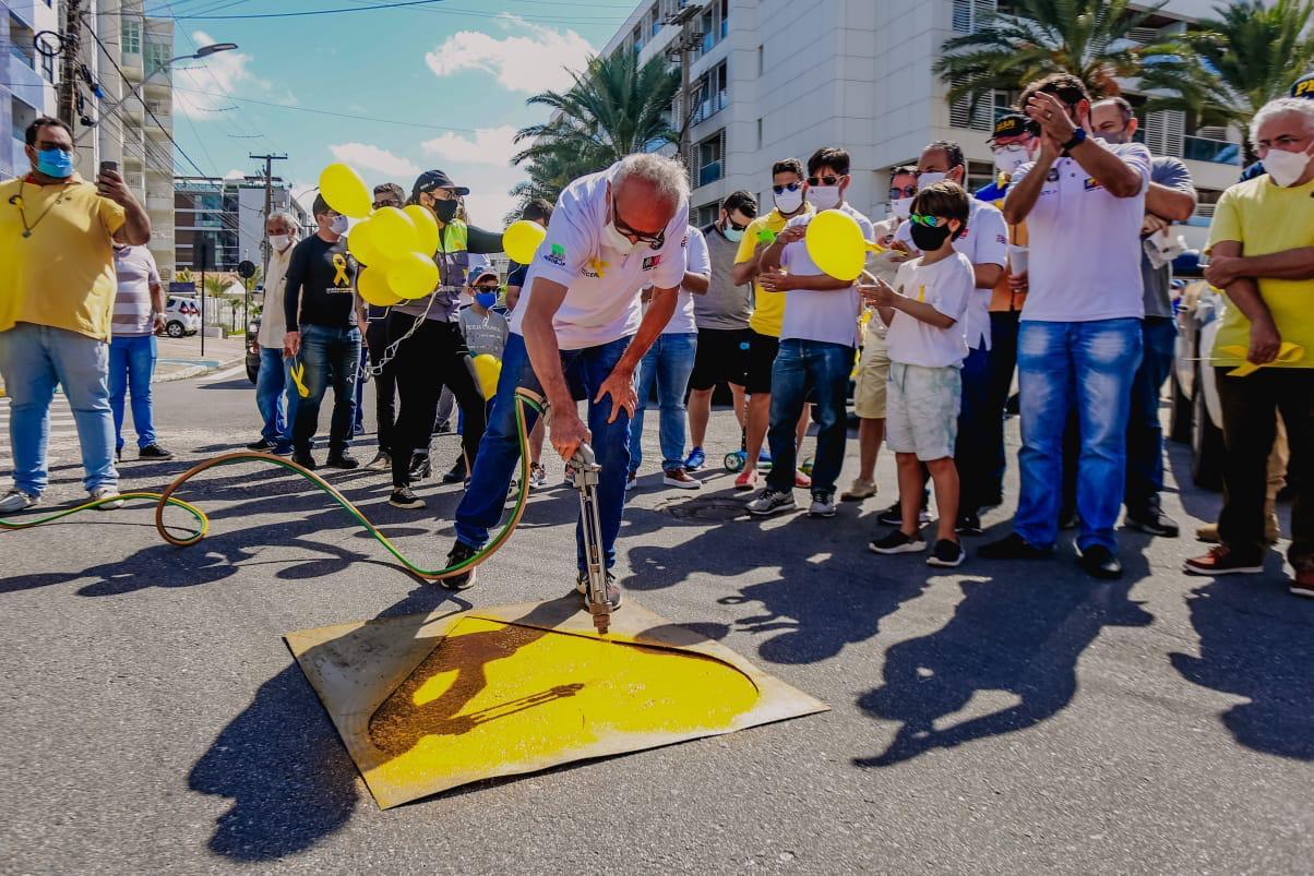 WhatsApp Image 2021 05 01 at 10.48.40 - Prefeitura inicia comemorações do Maio Amarelo, que terá campanhas educativas e intervenções no trânsito