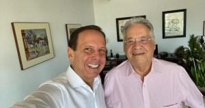 fhc e doria 300x158 - FHC defende candidatura do PSDB em 2022 durante encontro com Doria