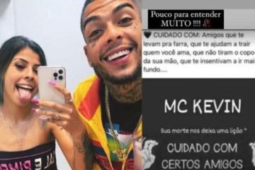 gossip do dia - DESABAFO: 'Cuidado com os amigos que te incentivam a ir mais fundo, diz irmã de MC Kevin